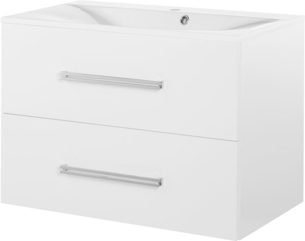 Fackelmann Como 79,5cm weiß glänzend weiß glänzend (73823)