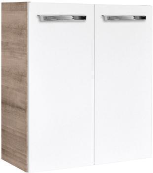 Fackelmann A-Vero 52cm weiß hochglanz graueiche (82583)