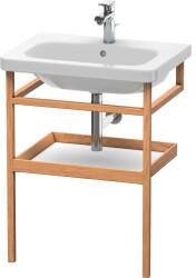 Duravit Möbel-Accessoires Handtuchhalter mit Ablage DuraStyle 9881, 590x440mm, Farbe (Front/Korpus): Weiß MattEiche Massiv