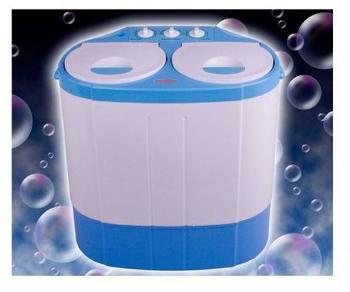 Goods & Gadgets Mini-Waschmaschine weiß/blau