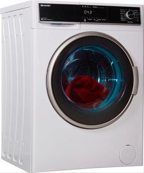 Sharp Waschmaschine ES-HFH014AW3-DE, 10 kg, 1400 U/Min weiß