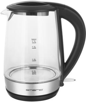 Emerio WK-123131 Wasserkocher, Glas/Silber