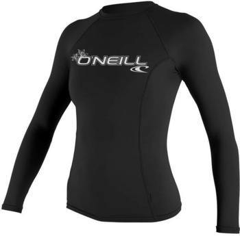 O'Neill Women's Basic Skins L/S Crew black