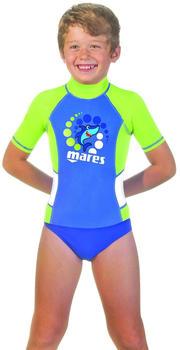 Mares Rash Guard Kid Short Sleeve 412559 blue