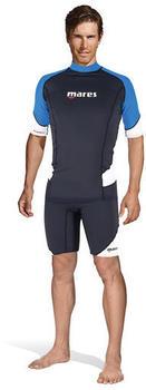 Mares Rash Guard Short Sleeve (412552) black/blue/white