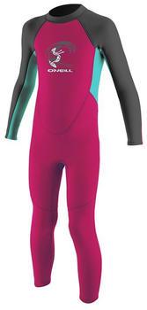 O'Neill Reactor 2mm Full Wetsuit Toddler Girls berry/aqua