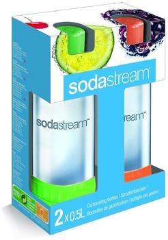 SodaStream PET-Flasche Duo-Pack grün / orange (2 x 0,5 Ltr.)