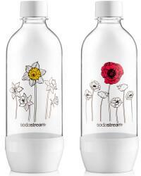 Sodastream SodaStream Mehrwegflasche JET Blumen im Winter Flasche 2x1 Liter
