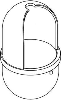 Hewi Serie 477 Bürstenbehälter felsgrau (17620 95)