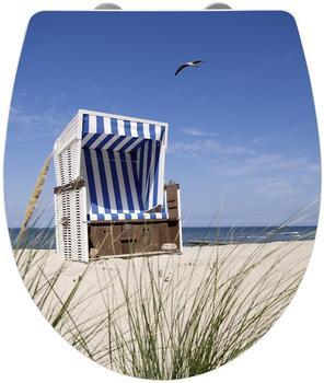 Wenko Strandkorb WC-Sitz mit Absenkautomatik