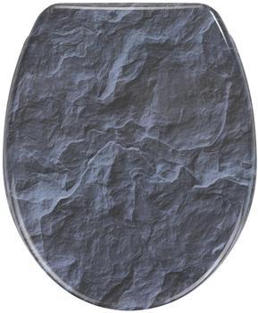 Wenko Slate Rock WC-Sitz mit Absenkautomatik