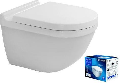 Duravit Starck 3 Wand-Tiefspül WC inkl. WC-Sitz (45270900A1)