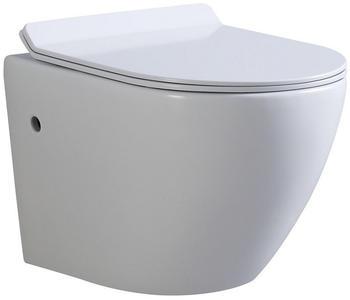 i-flair Hänge WC Spülrandlos mit Softclose