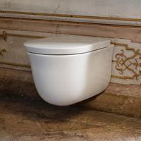 Laufen The New Classic Wand-Tiefspül-WC L: 53 B: 37 cm, spülrandlos weiß, mit CleanCoat H8208514000001