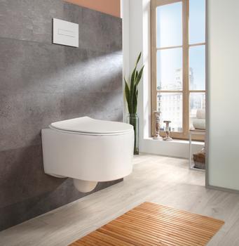 WELLTIME Tiefspül-WC Trento, Toilette spülrandlos, inkl. WC-Sitz mit AbsenkautomatikSoftclose, weiß