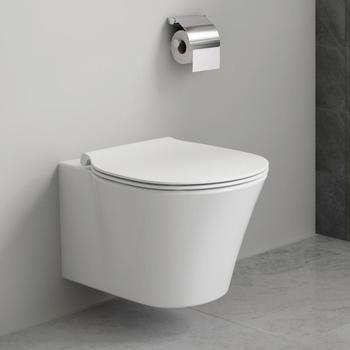 Ideal Standard Tiefspül-WC ProSys mit Connect Air, WC-Element, WC-Sitz und Drückerplatte