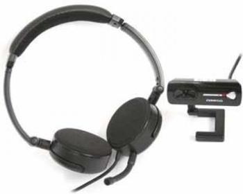 Omega Webcam Bueto + Headset