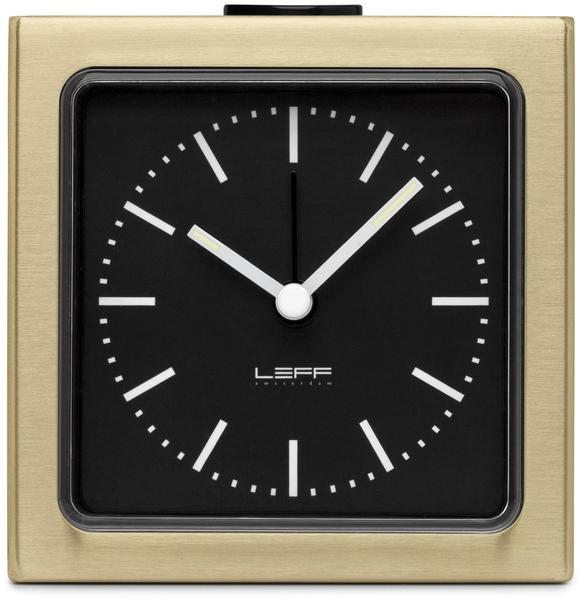 Leff Amsterdam Block Wecker schwarz/bronze