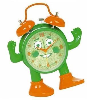 AccuCell ABC spielerisch die Uhrzeit lernen, Ticki Tack der Kinderwecker grün orange, inklusive Batterie