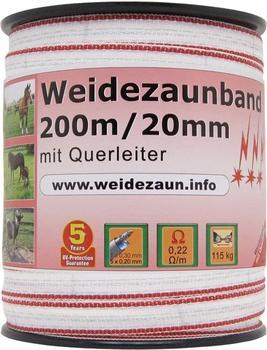 VOSS.farming ProfiLine Weidezaunband 200 m x 20 mm 1x0,30 Kupfer + 5x0,20 Niro (44565)