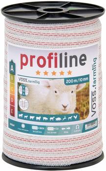 VOSS.farming ProfiLine Weidezaunband 200 m x 10 mm 1x0,30 Kupfer + 3x0,20 Niro (44564)