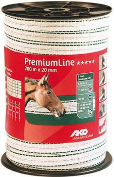 AKO PremiumLine Weidezaunband 200 m 20 mm (441534)