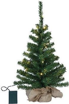 Best Season LED-Tannenbaum im Jutesack 60cm grün