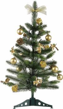 Star Trading LED-Tannenbaum mit Dekoration 60cm goldfarben