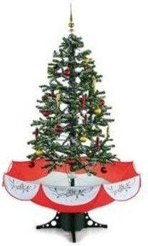 OneConcept Everwhite Schneiender Weihnachtsbaum 180cm rot