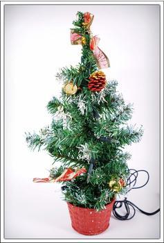 Spetebo Weihnachtsbaum mit Dekoration und Beleuchtung 45cm