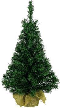 Kaemingk Mini Weihnachtsbaum im Jutesack 75cm grün