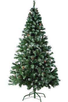 TecTake Künstlicher Weihnachtsbaum 180cm 705 Spitzen Zapfen grün (402822)
