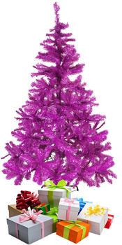 Mojawo Weihnachtsbaum künstlicher Tannenbaum 180cm inkl. Ständer Lila/Pink