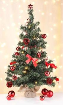 Gravidus 20 LED Christbaum geschmückt rot 75cm (g-7105)