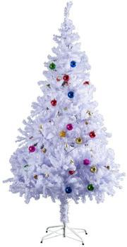 HomCom Künstlicher Weihnachtsbaum 180cm lila/weiß (02-0352)