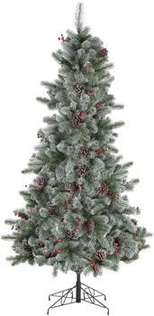 Home Affaire Künstlicher Weihnachtsbaum beschneite Äste, Tannenzapfen und Beeren 150cm grün