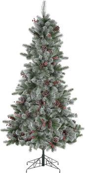Home Affaire Künstlicher Weihnachtsbaum beschneite Äste, Tannenzapfen und Beeren 210cm grün