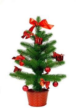 Best Season LED-Weihnachtsbaum mit Dekoration 45cm grün/rot