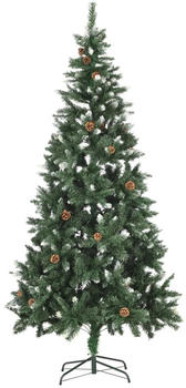 vidaXL Artificial Christmas Tree With Pine Cones And Glitter