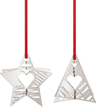 Georg Jensen Christmas Collectibles 2019 Weihnachtsschmuck Stern und Baum (10015300)