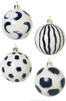 Ferm Living Christmas Hand Painted Glass Ornaments Blue 100602401)