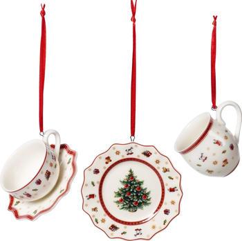 Villeroy & Boch Toy's Delight Decoration Ornamente Geschirr-Set weiß/rot 3-tlg. (1486596664)