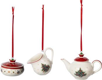 Villeroy & Boch Toy's Delight Decoration Ornamente Kaffee-Set weiß/rot 3-tlg. (1486596668)