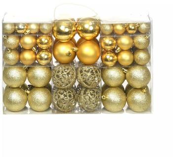 vidaXL Christmas Ornaments Gold (100 Pieces)