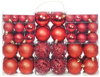 vidaXL Christmas Ornaments Red (100 Pieces)