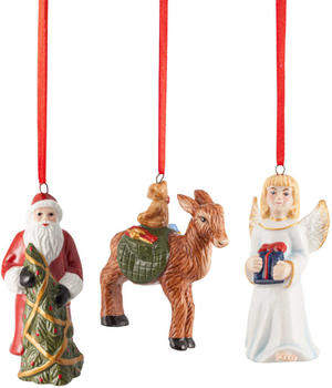 Villeroy & Boch Nostalgic Ornaments Ornamente-Set Santa/Christkind/Reh 3-tlg. (1483316686)