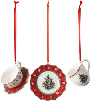 Villeroy & Boch Toy's Delight Decoration Ornamente-Set Geschirr rot 3-tlg. (1486596665)