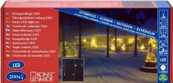 Konstsmide LED Eisregen Lichtervorhang weiß (2733-102)