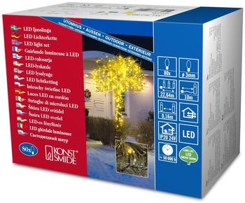 Konstsmide Micro-LED-Lichterkette 80er gelb (3611-000)