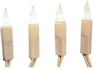 Hellum Mini-Lichterkette 20er Kerzen weiß (832082)